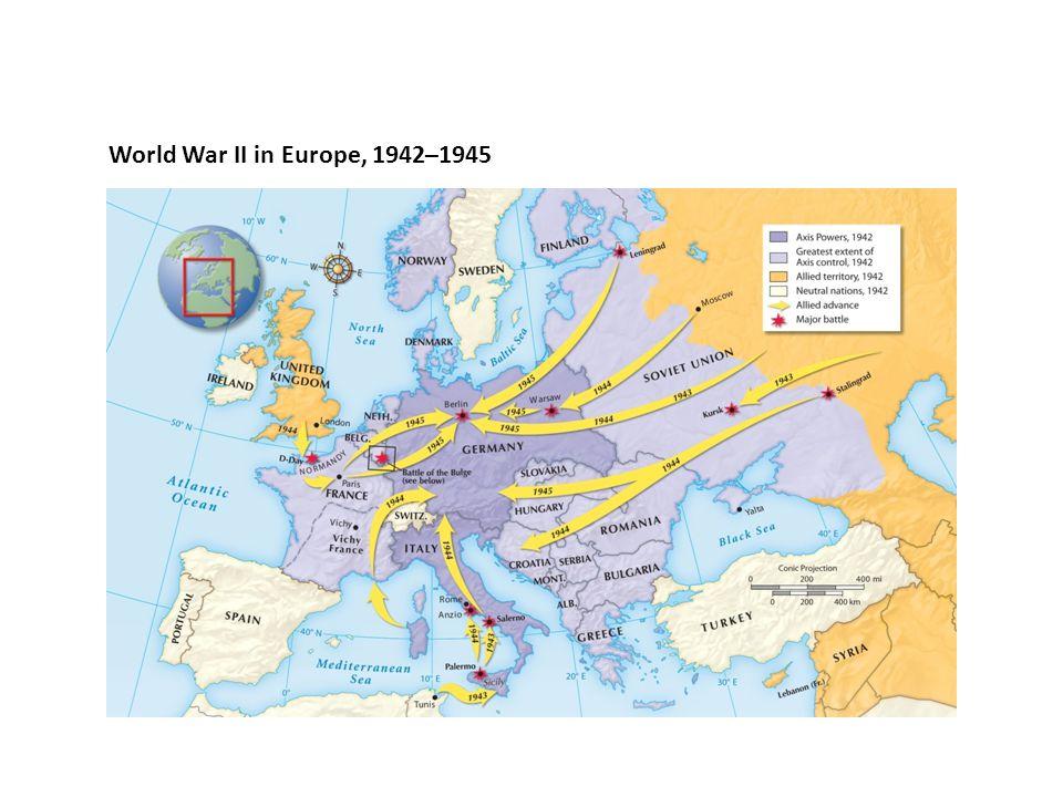 World War II in Europe, 1942–1945