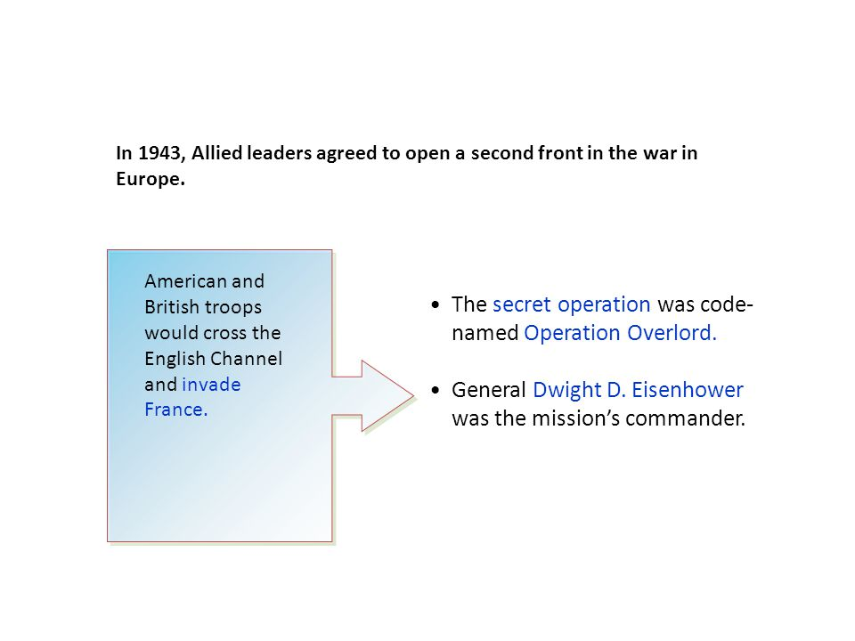 Operation Overlord was a massive operation.On D-Day, June 6, 1944, the Allies landed at Normandy.