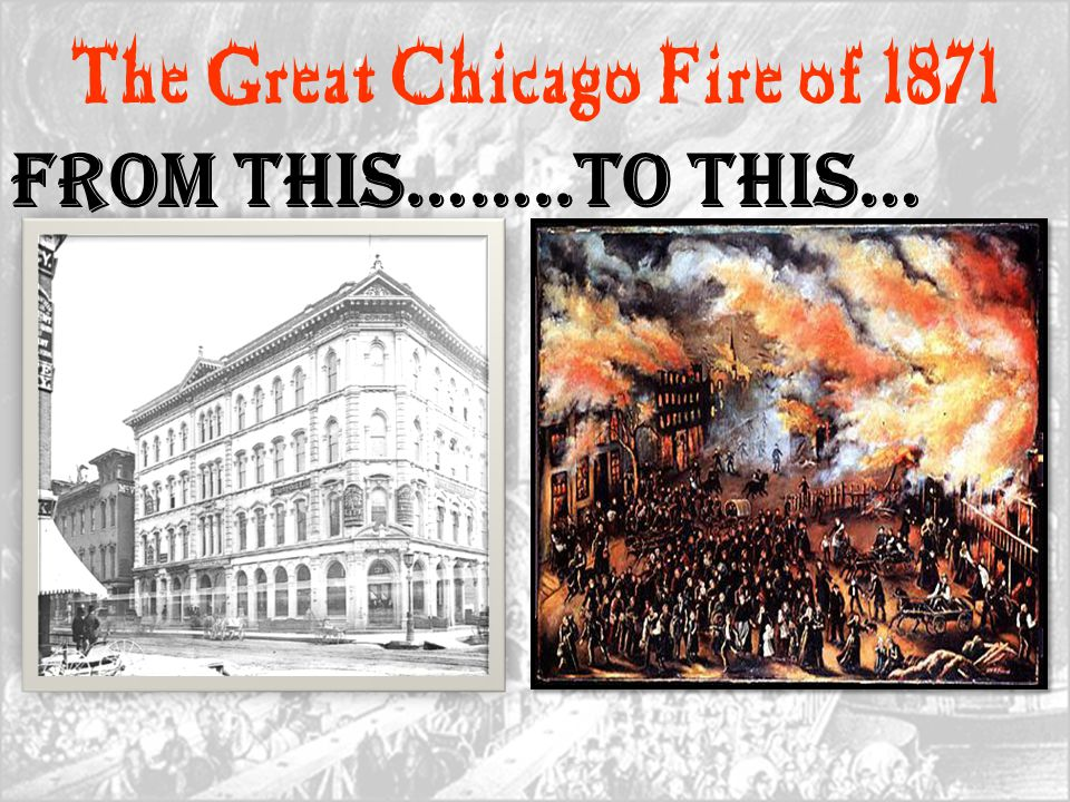 The Great Chicago Fire of 1871 From this……..To This…