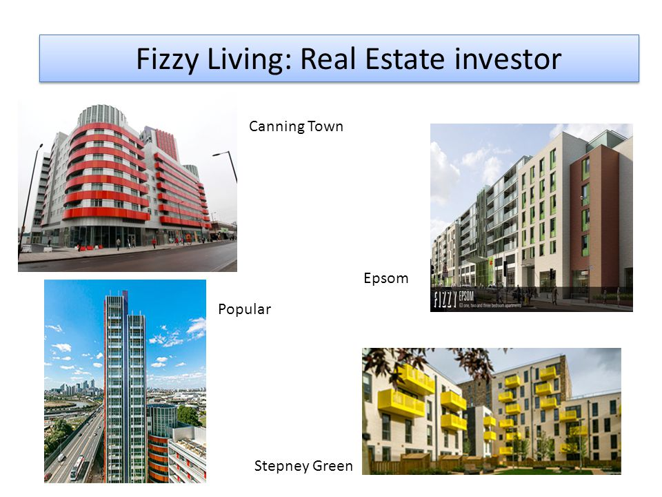 Fizzy Living: Real Estate investor Canning Town Epsom Popular Stepney Green