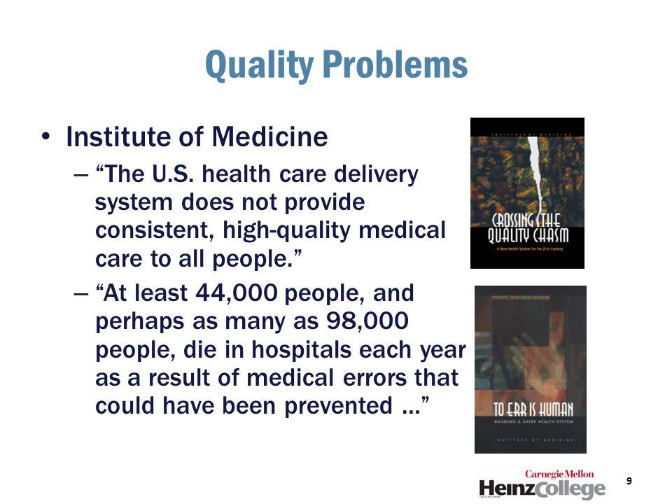 Quality Problems Institute of Medicine – The U.S.