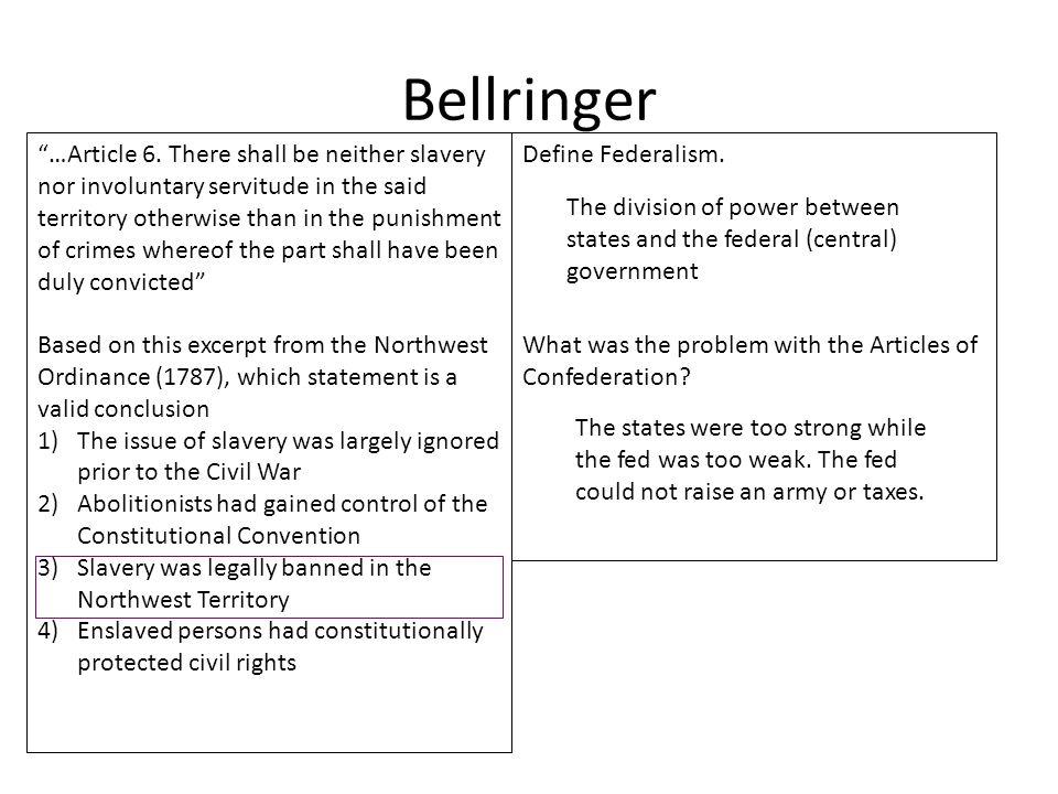 Bellringer …Article 6.