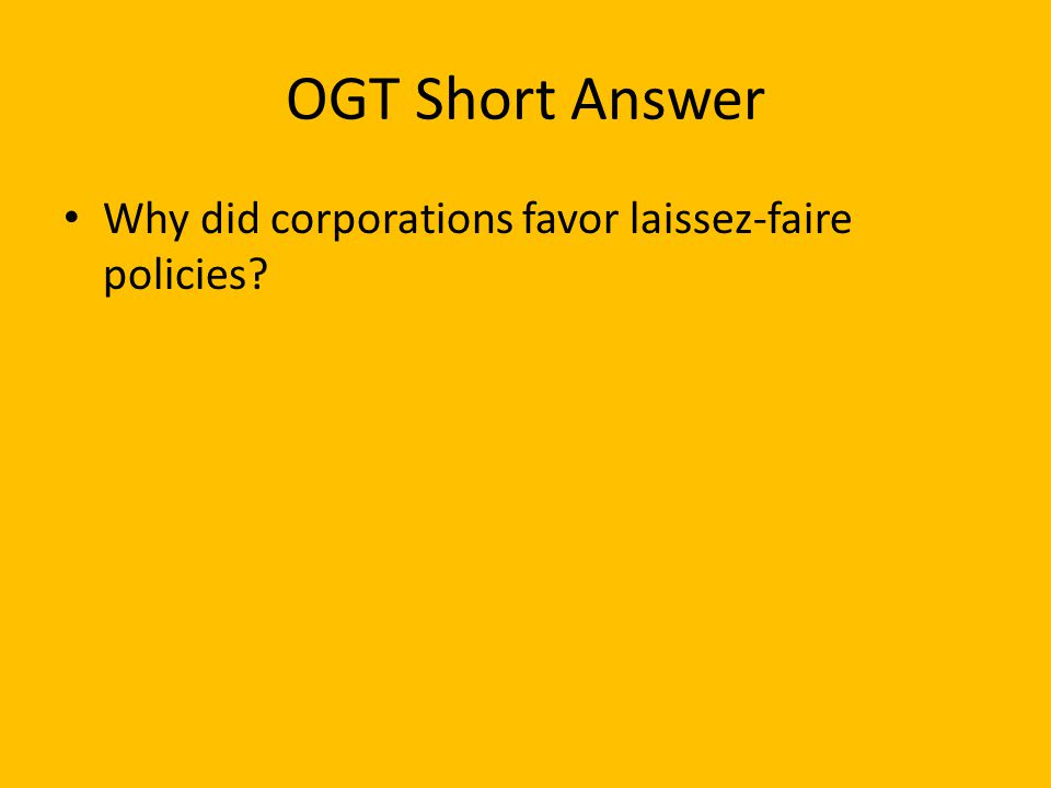 OGT Multiple Choice _____ (Base Test March 2005) One effect of industrialization in the United States in the late 19th century was A.