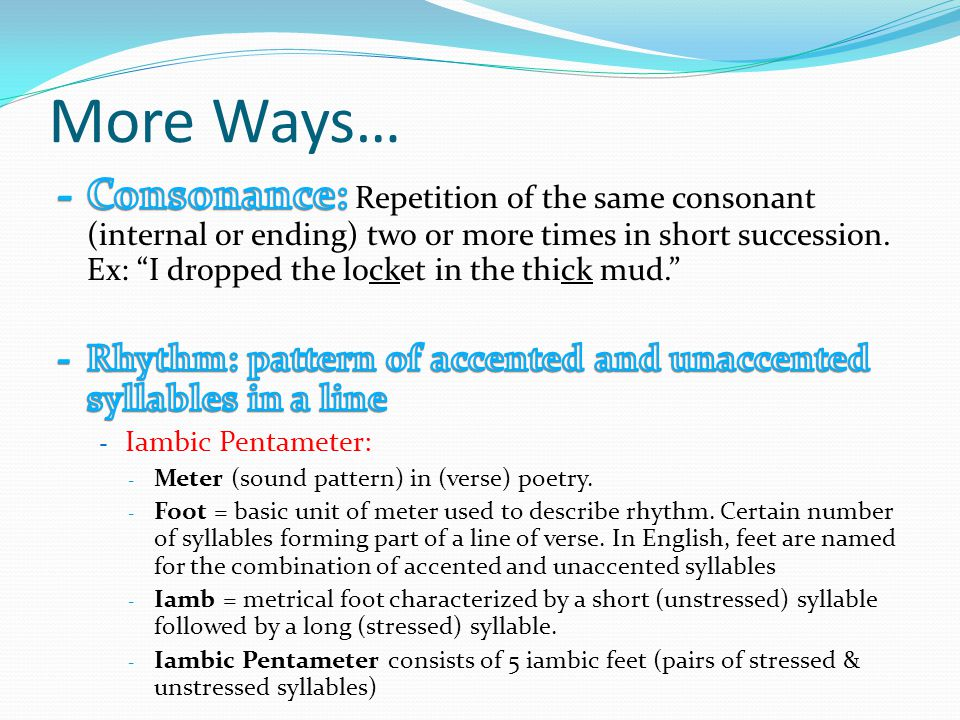 Ways to Make your Poetry