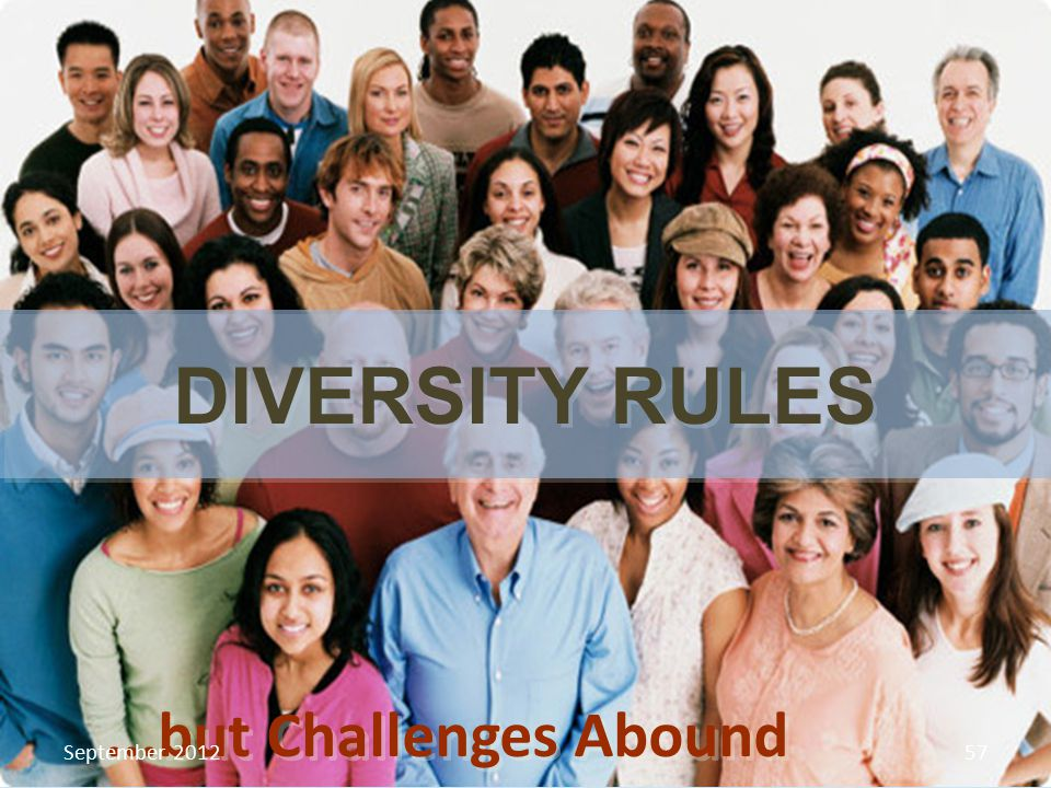 ...but Challenges Abound DIVERSITY RULES September 201257