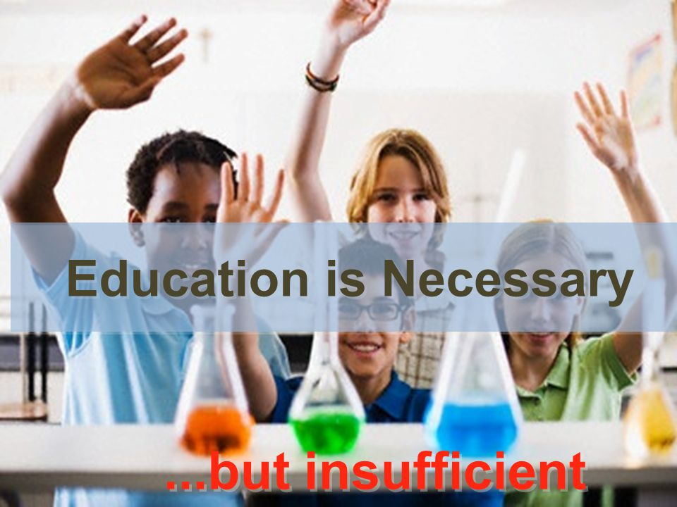 ...but insufficient...but insufficient Education is Necessary