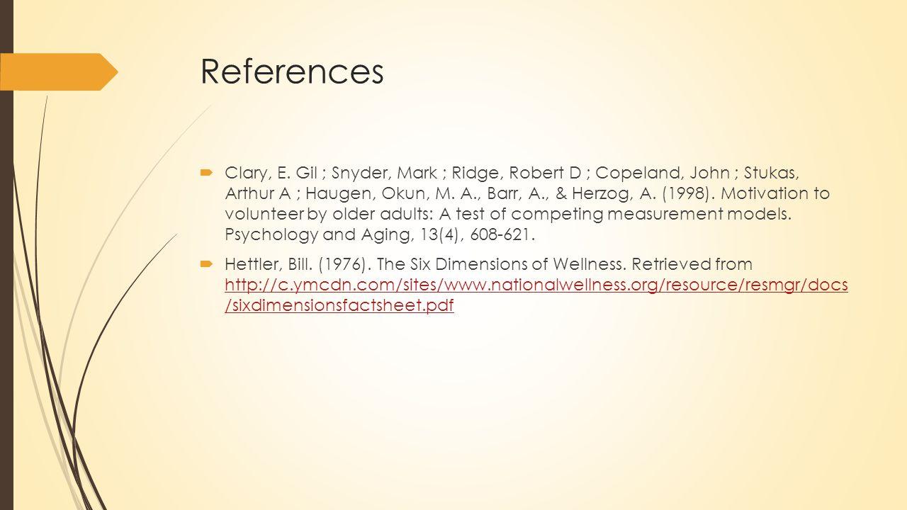References  Clary, E.