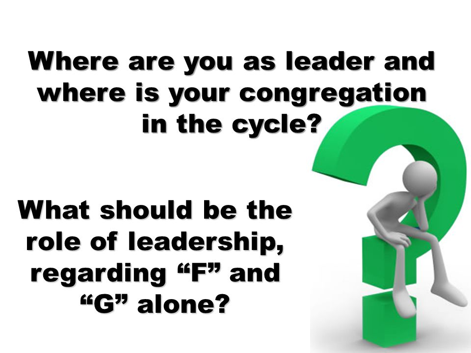 Where are you as leader and where is your congregation in the cycle.