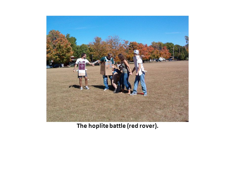 The hoplite battle (red rover).