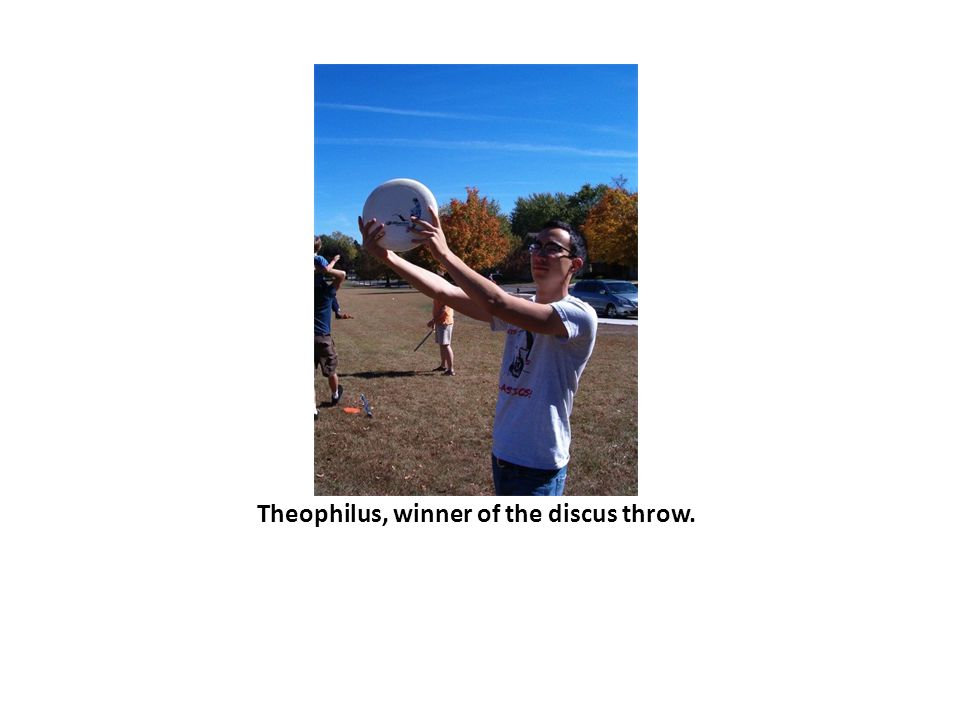 Theophilus, winner of the discus throw.