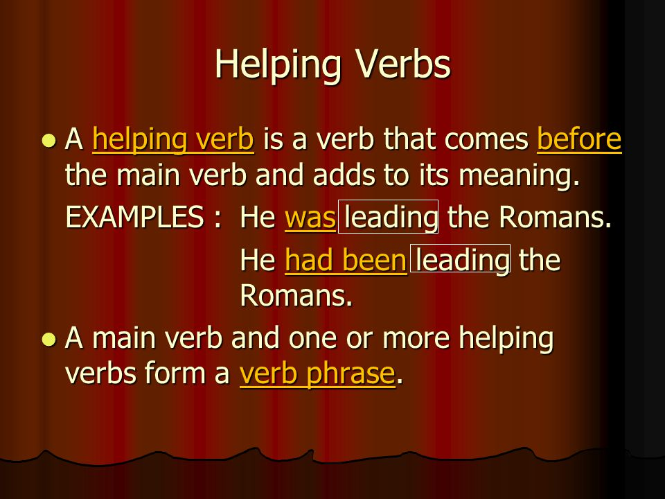Key Concept To help you decide whether one of these verbs is a linking verb, try substituting is or are for the verb.