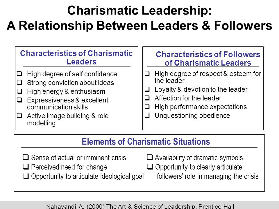 negative characteristics of charismatic leadership
