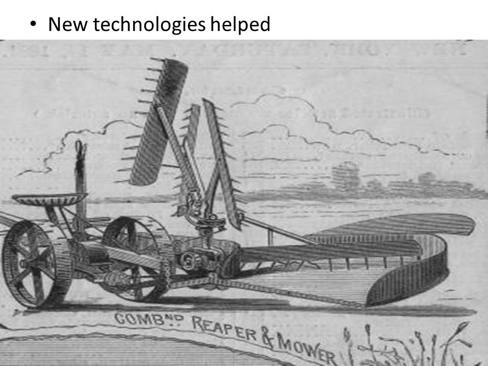 New technologies helped