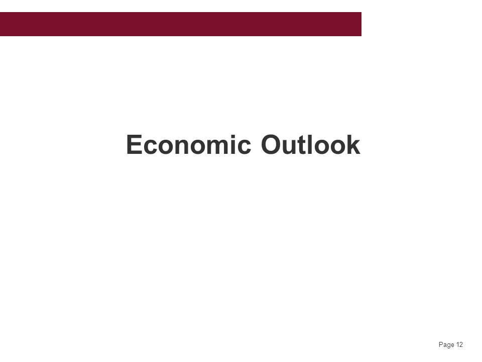 Page 12 Economic Outlook