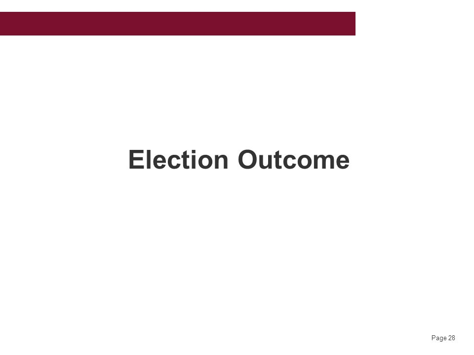 Page 28 Election Outcome