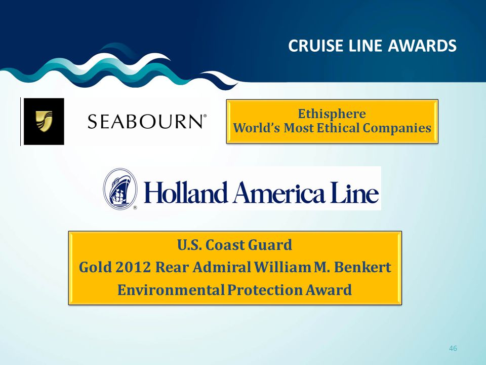 Ethisphere World's Most Ethical Companies U.S. Coast Guard Gold 2012 Rear Admiral William M.