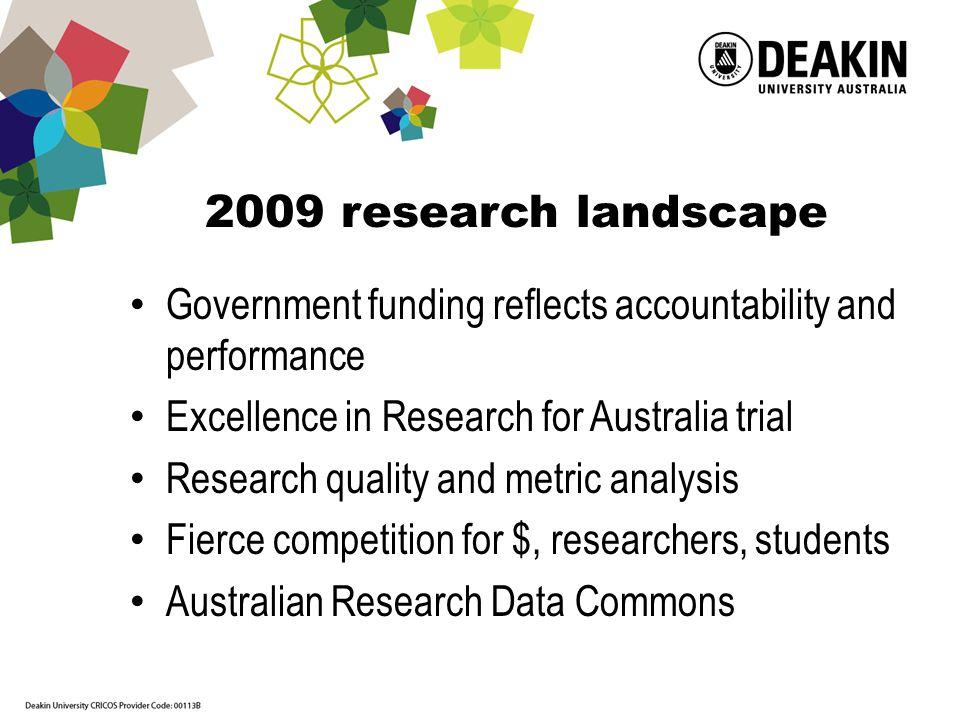 Deakin University – strong research aspirations Image from Everyday Tenacity website http://everydaytenacity.com/