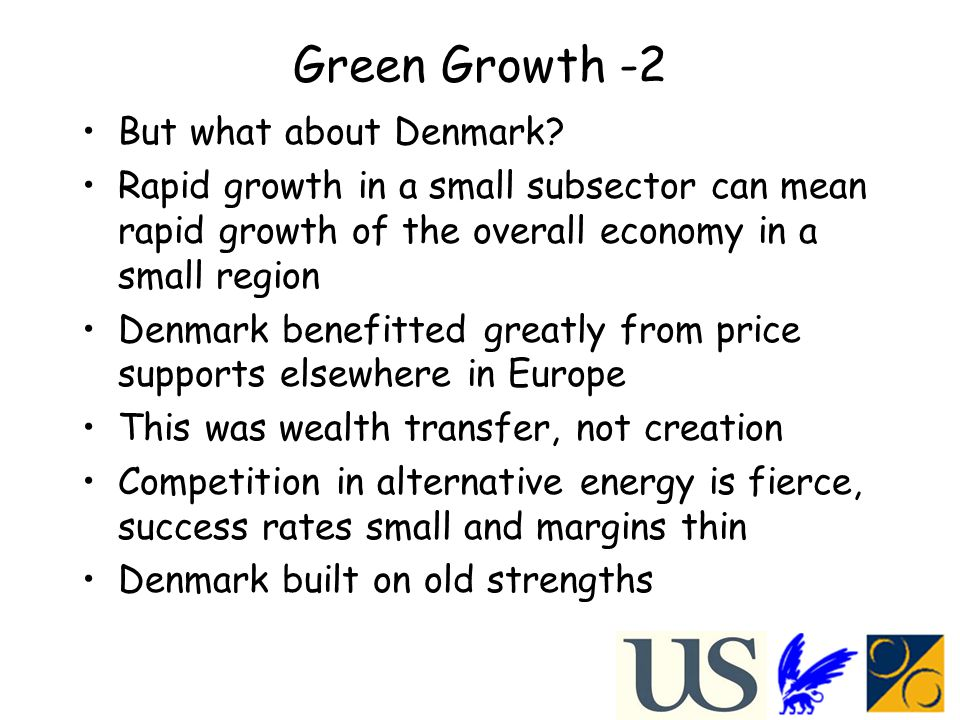 Green Growth -2 But what about Denmark.