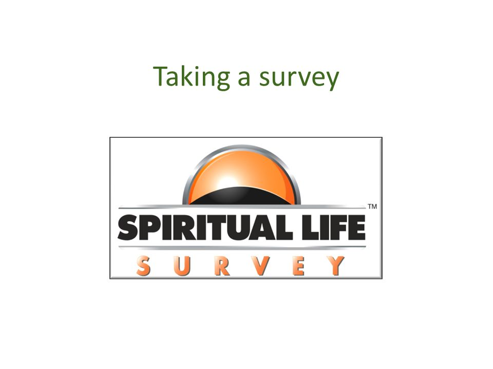 Taking a survey