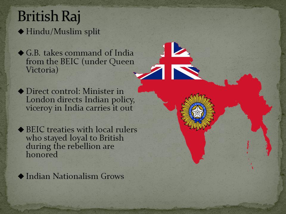  Hindu/Muslim split  G.B.
