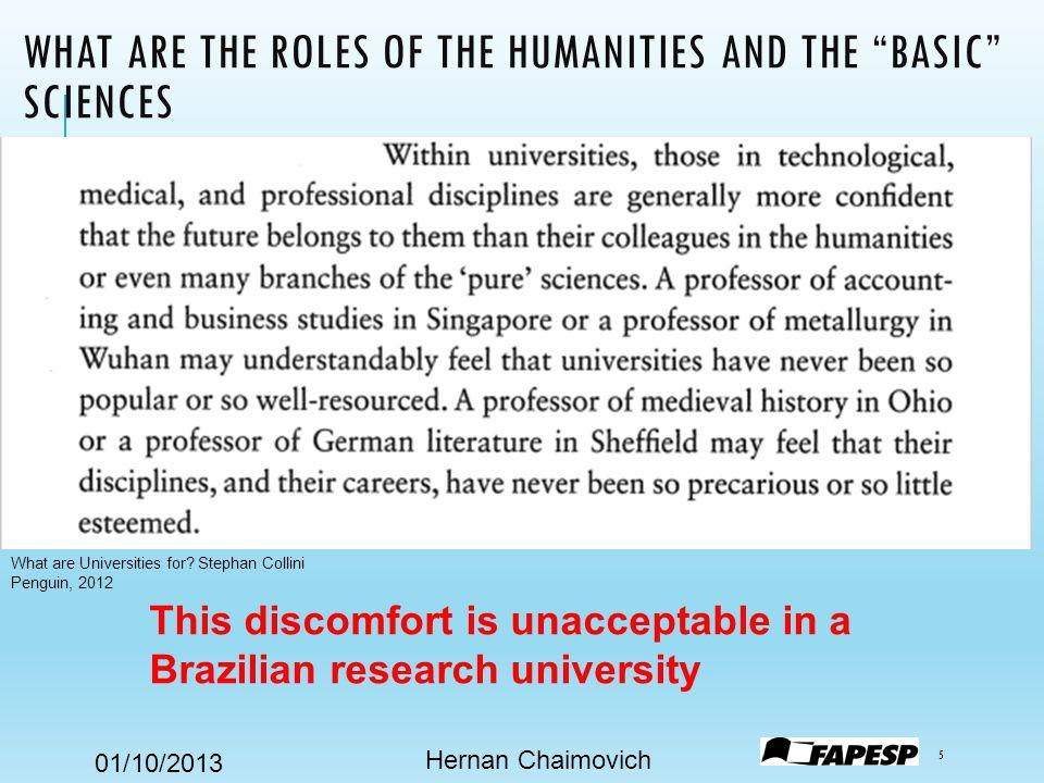 01/10/2013 RESEARCH OR DOCTORATE-GRANTING UNIVERSITIES Hernan Chaimovich 6 Doctorate-granting Universities.