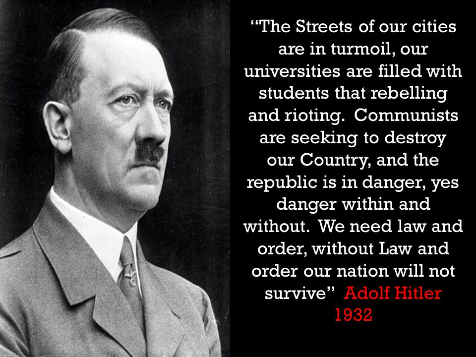 The Streets of our cities are in turmoil, our universities are filled with students that rebelling and rioting.