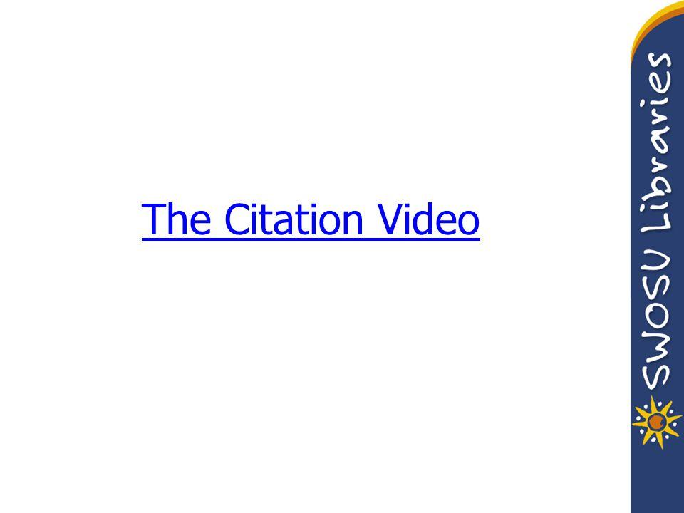 The Citation Video