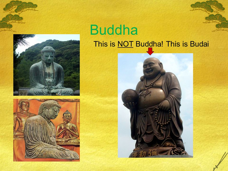 Buddha This is NOT Buddha! This is Budai