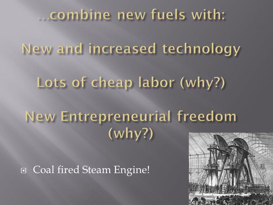  Coal fired Steam Engine!