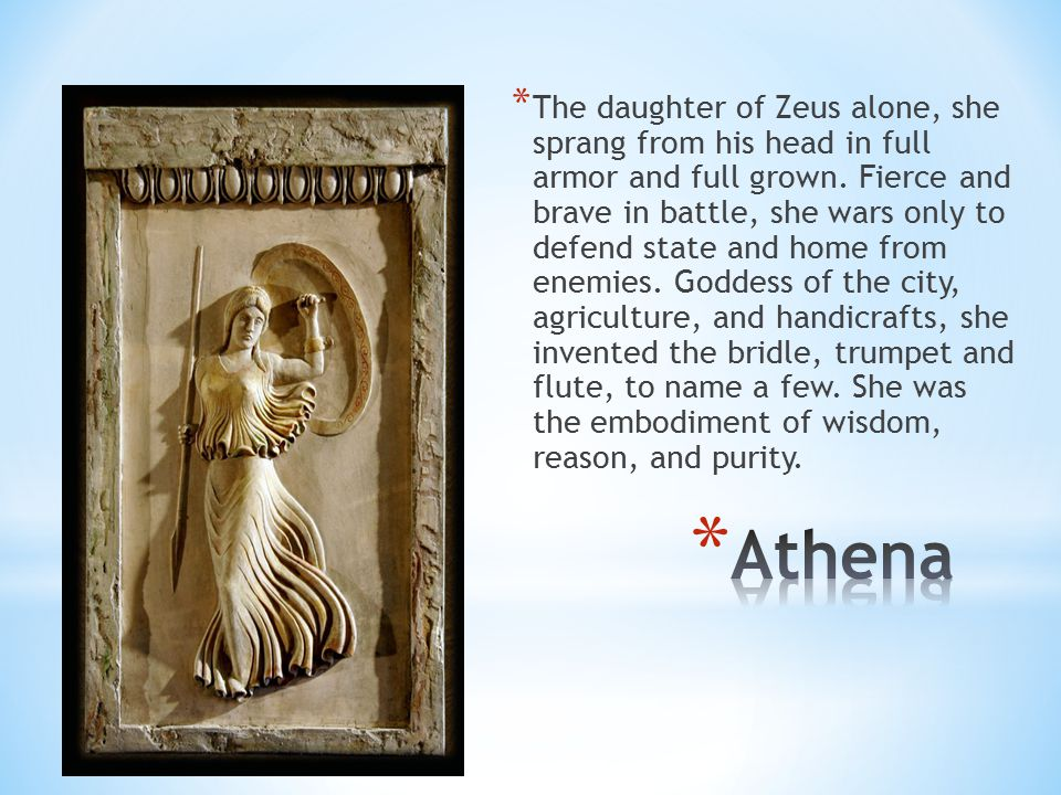 Daughter of Atlas, she inhabits the island of Ogygia, on the coast of which Odysseus was thrown when shipwrecked.