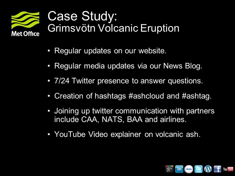 Case Study: Grimsvötn Volcanic Eruption Regular updates on our website.