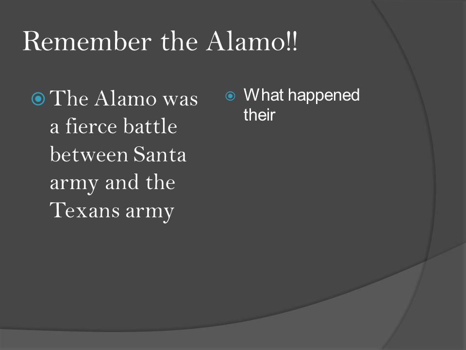 Remember the Alamo!.
