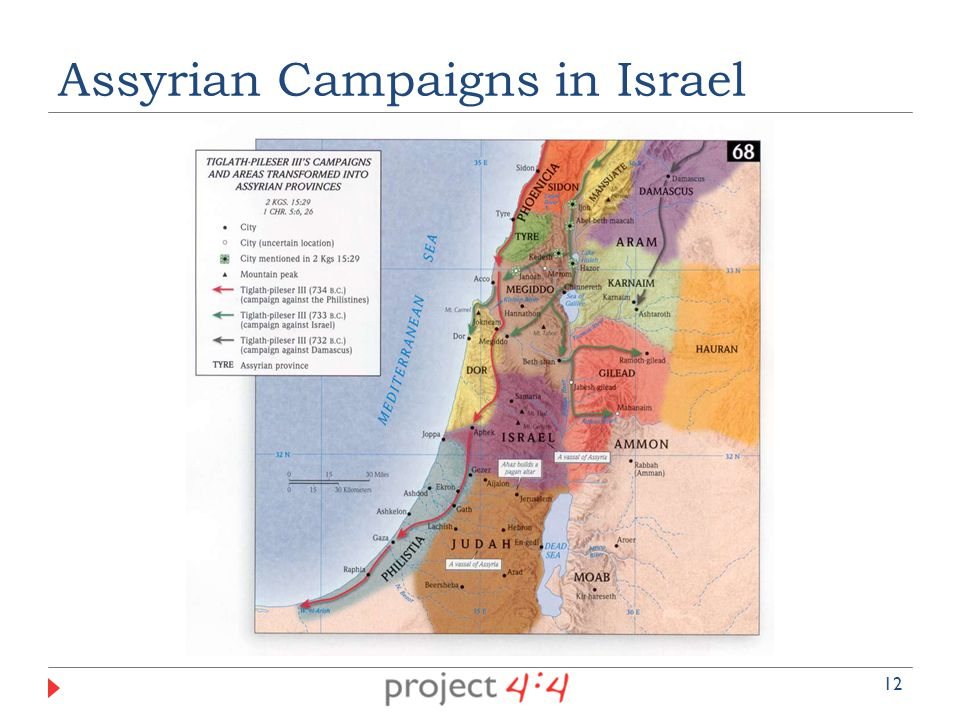 Assyrian Campaigns in Israel 12