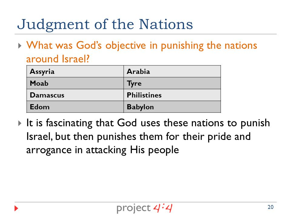  What was God's objective in punishing the nations around Israel.