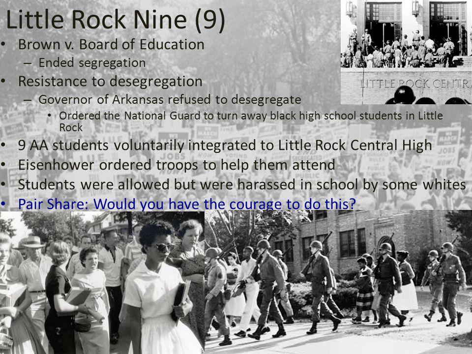 Little Rock Nine (9) Brown v.