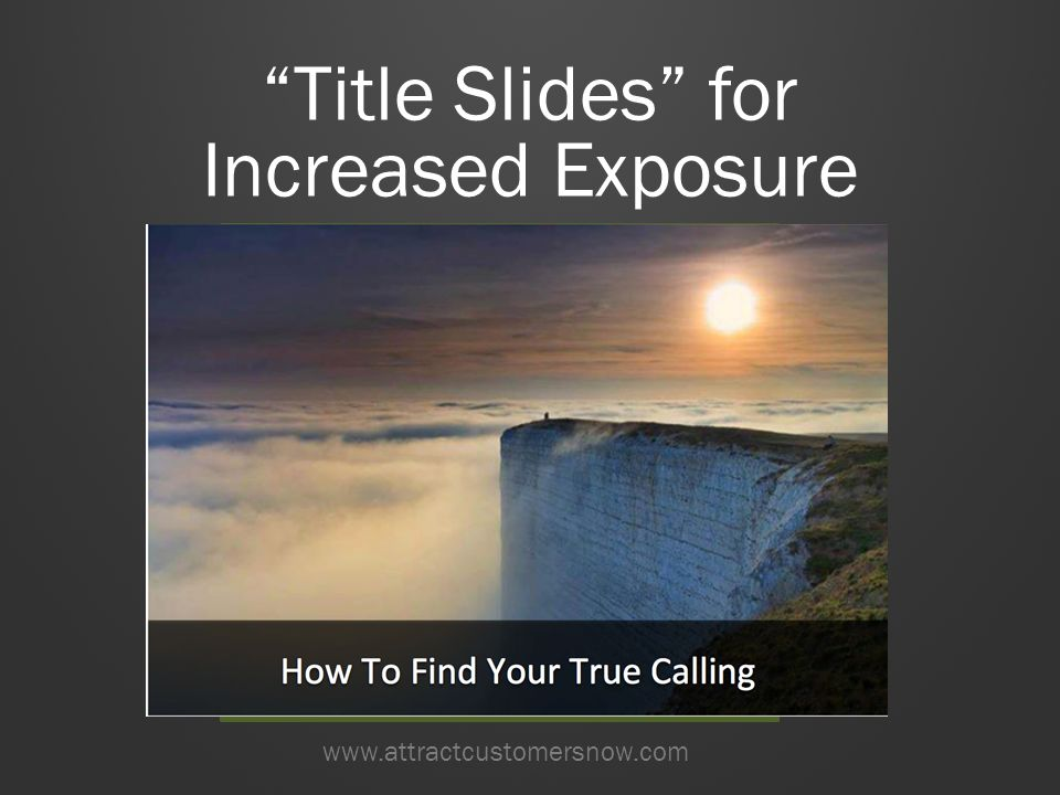 Title Slides for Increased Exposure www.attractcustomersnow.com Salad In A Jar www.sitehere.com
