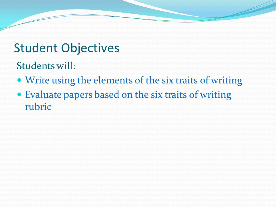 Leveling (cont.)- Students Examples Main PageIdeasOrganizationVoiceWord Choice Sentence Fluency Conventions Six Traits / Writing Process Student Leveling Examples Student Paper Examples - Using the leveling technique in the paper.