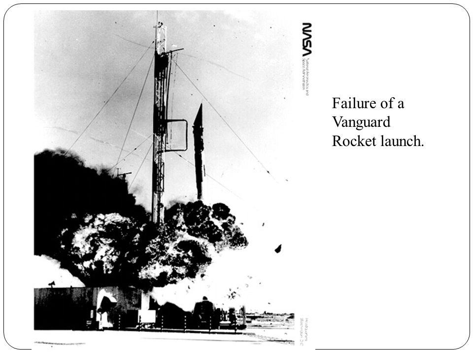 Failure of a Vanguard Rocket launch.