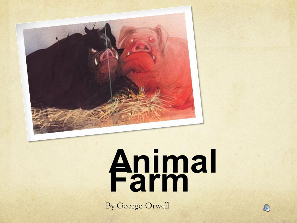 a literary analysis of metaphors in animal farm by george orwell