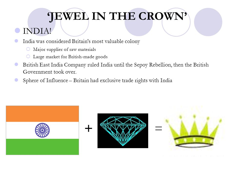 'JEWEL IN THE CROWN' INDIA.
