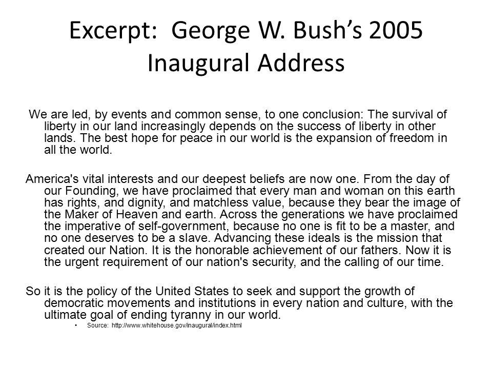 Excerpt: George W.