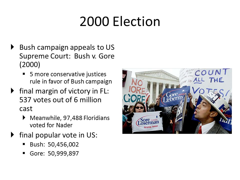 2000 Election  Bush campaign appeals to US Supreme Court: Bush v.