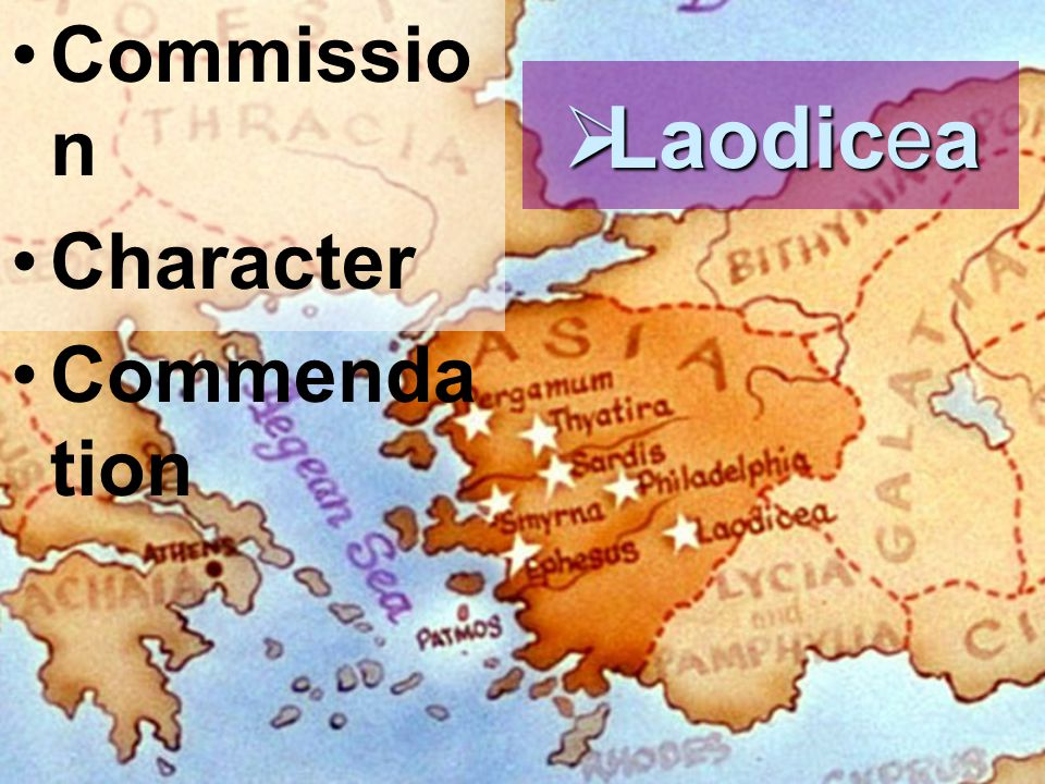 Commissio n Character Commenda tion  Laodicea