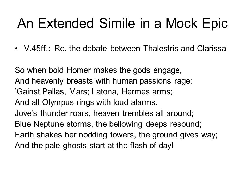 An Extended Simile in a Mock Epic V.45ff.: Re.