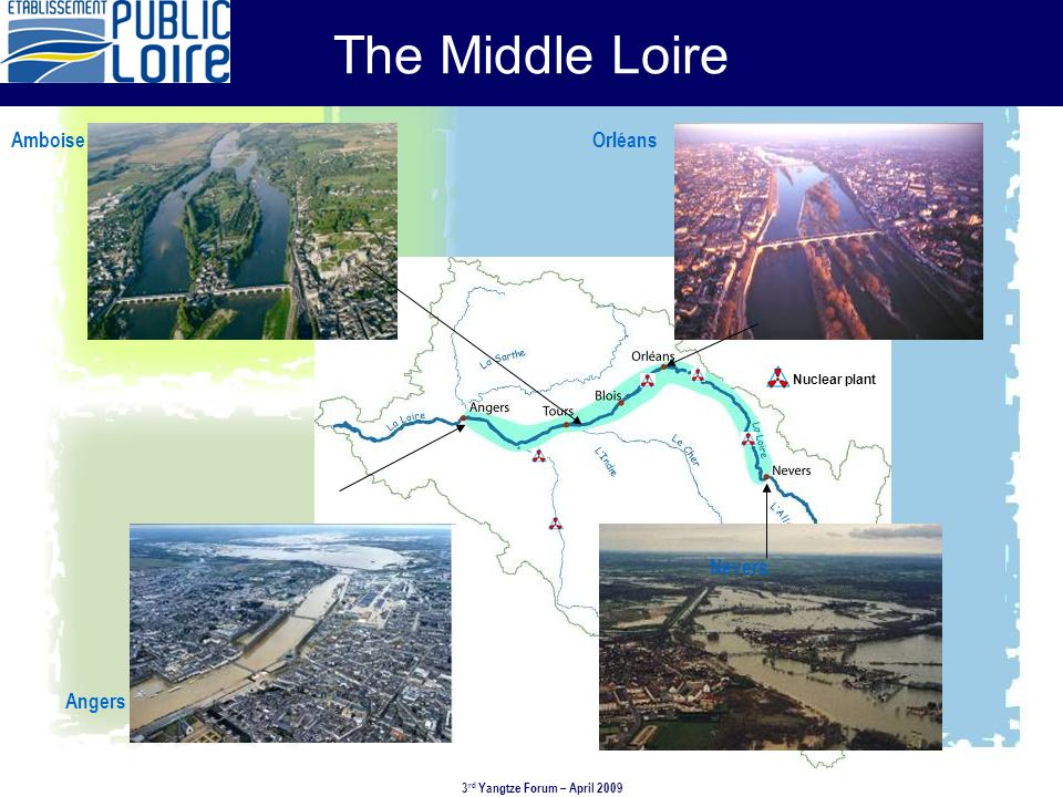 Levees, breaches and spillways in in the middle Loire 3rd Yangtze Forum – Shanghai – April 2009