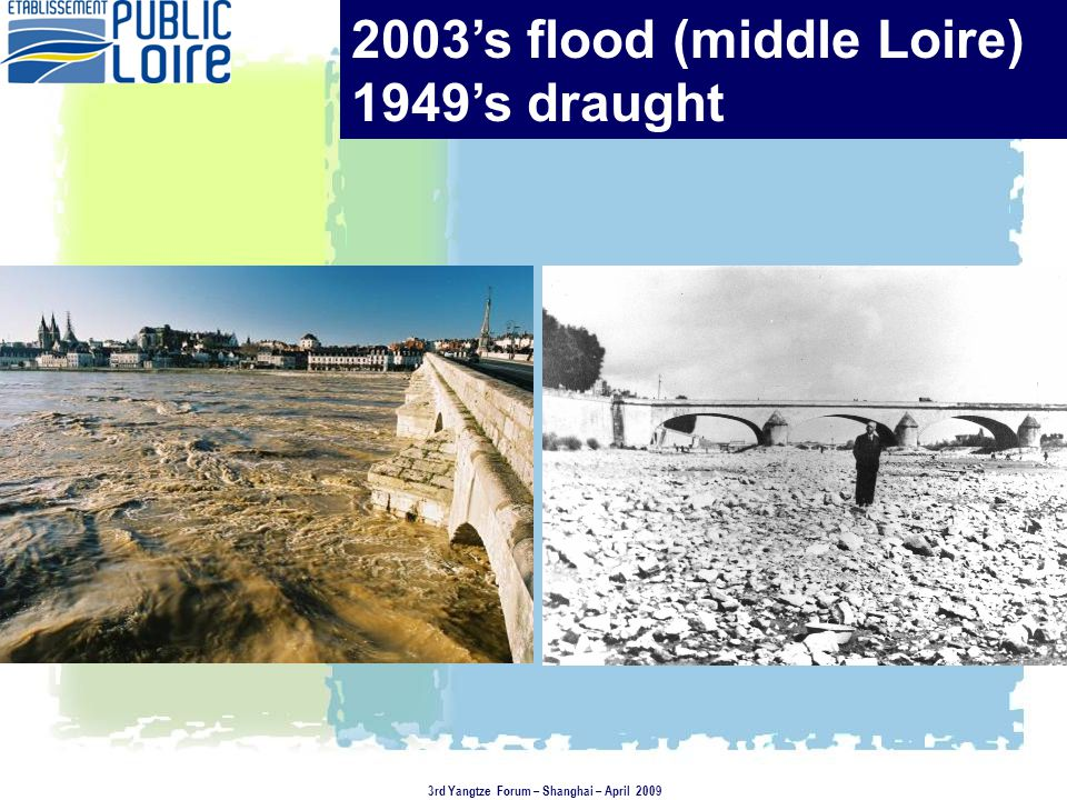 3 examples in the flood prevention field illustrating the stakeholder involvement At the river basin scale, an « industrial » approach aimed at reducing the vulnerabilty to flooding for the economic activities -In the middle Loire Joint planning approach -Testing a flood risk management plan