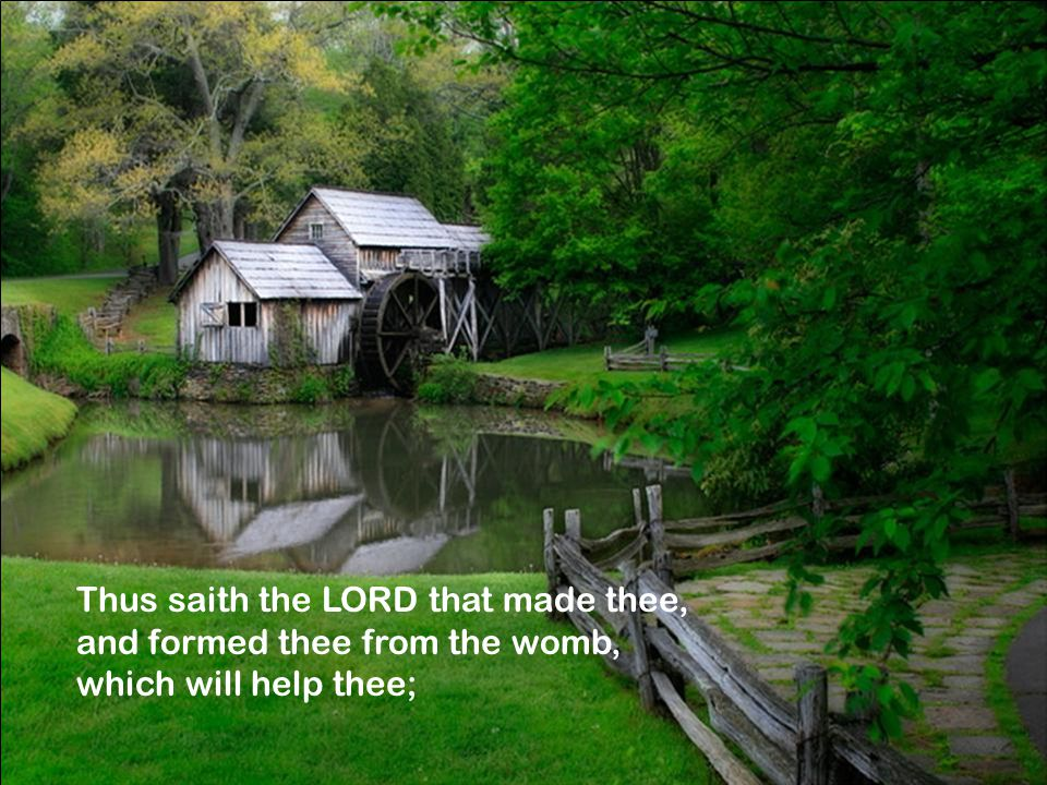 Thus saith the LORD that made thee, and formed thee from the womb, which will help thee;