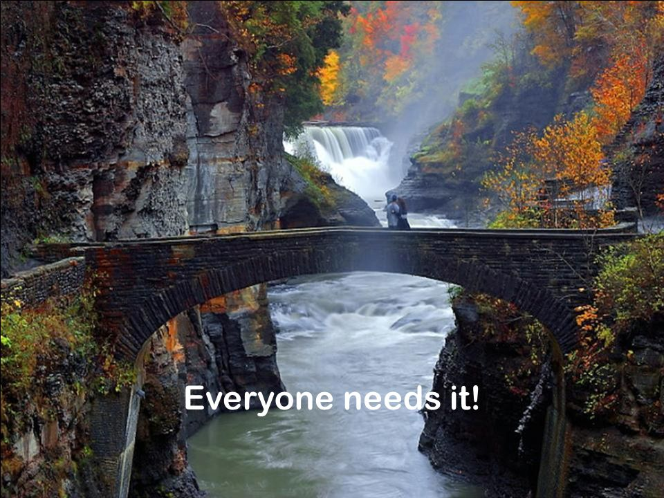 Everyone needs it!