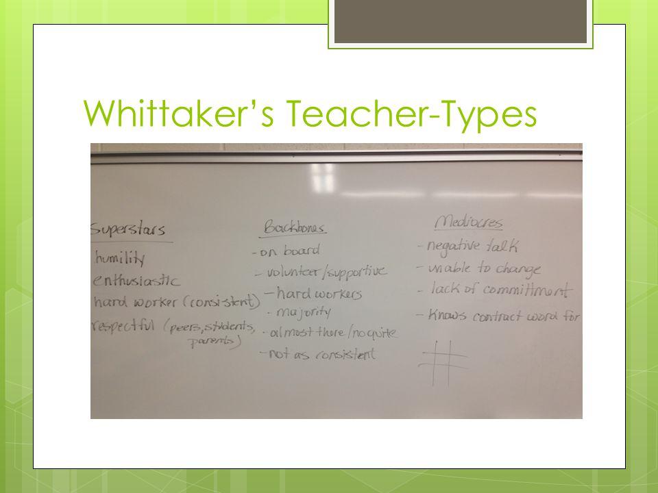 Whittaker's Teacher-Types