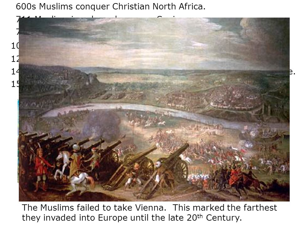 732 Muslims invade France but are stopped by Charles Martel.